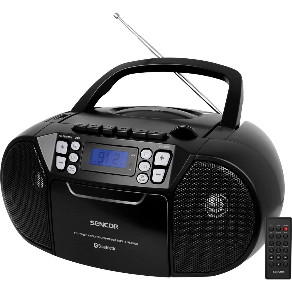 Rádio Sencor SPT 3907 B s CD/USB/BT/KAZE